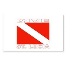 Dive St. Lucia Rectangle Decal