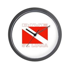Dive St. Lucia Wall Clock