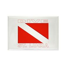 Dive St. Lucia Rectangle Magnet