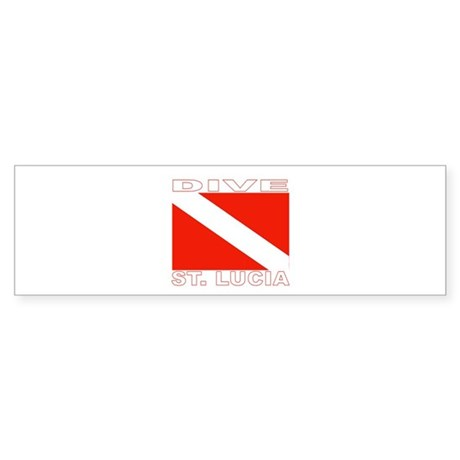 Dive St. Lucia Bumper Sticker