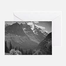 Ansel Adams Glacier National Park Greeting Card