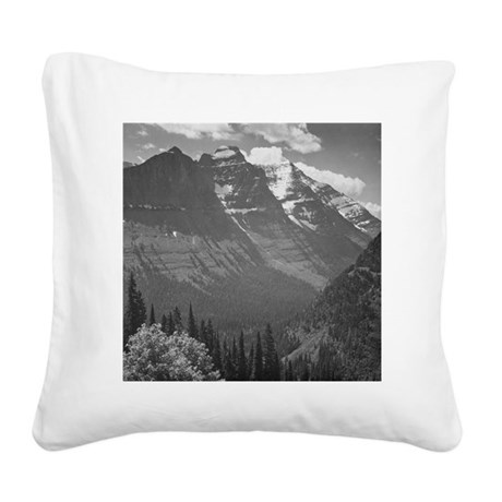 Ansel Adams Glacier National Square Canvas Pillow