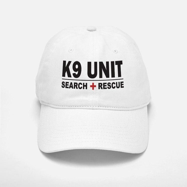 K9 Unit Search Rescue Sticker Baseball Baseball Cap