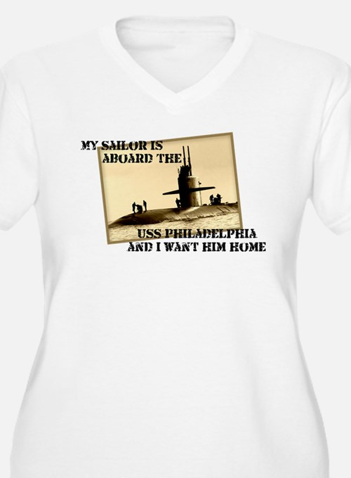 USS Philadelphia Plus Size T-Shirt