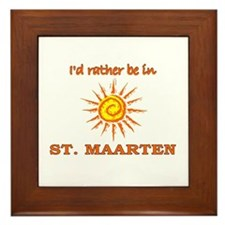 I'd Rather Be In St. Maarten Framed Tile