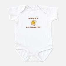 I'd Rather Be In St. Maarten Infant Bodysuit