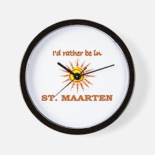 I'd Rather Be In St. Maarten Wall Clock