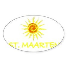 St. Maarten Oval Decal