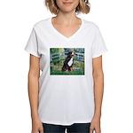 Bridge & Bernese Women's V-Neck T-Shirt
