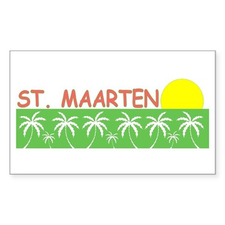 St. Maarten Rectangle Sticker