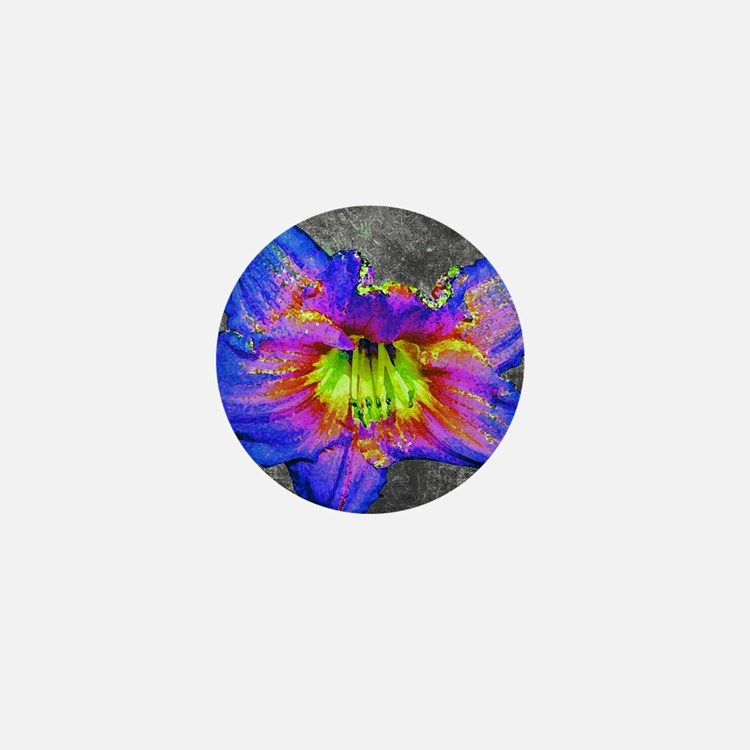 Neon daylily Mini Button