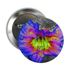 "Neon daylily 2.25"" Button"