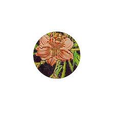 daylily sketch2 Mini Button