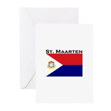 St. Maarten Flag Greeting Cards (Pk of 10)