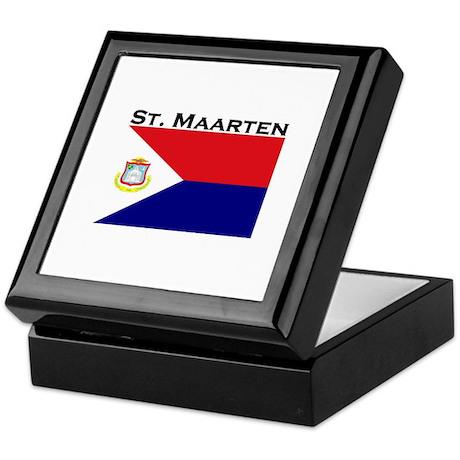 St. Maarten Flag Keepsake Box