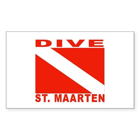Dive St. Maarten Rectangle Sticker