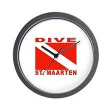 Dive St. Maarten Wall Clock