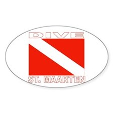 Dive St. Maarten Oval Decal