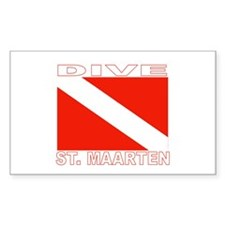 Dive St. Maarten Rectangle Decal
