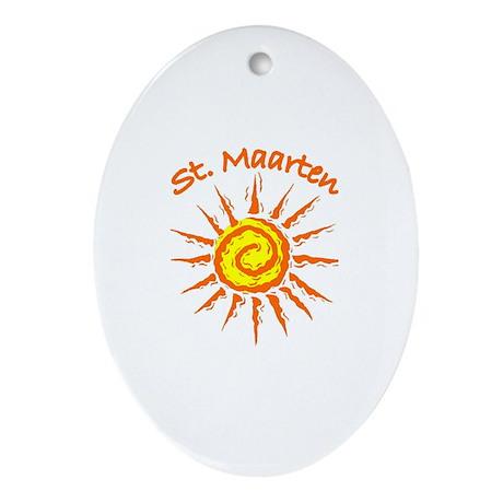 St. Maarten Oval Ornament