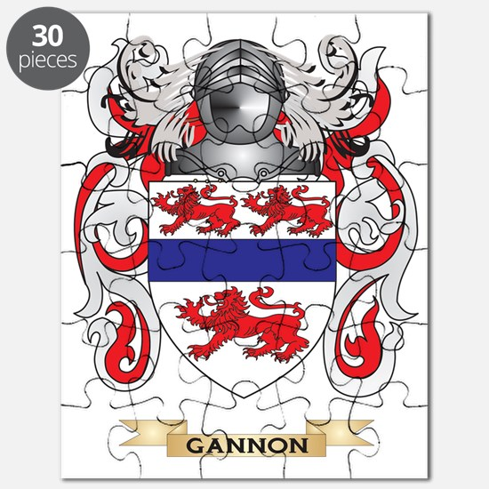 Gannon Coat of Arms (Family Crest) Puzzle