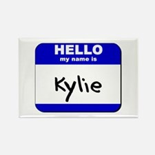 hello my name is kylie Rectangle Magnet