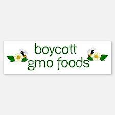 Boycott GMO Foods Bumper Bumper Sticker