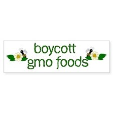 Boycott GMO Foods Bumper Sticker