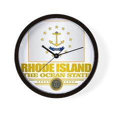 Rhode Island Flag Wall Clock