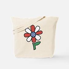 American Flower Power Tote Bag
