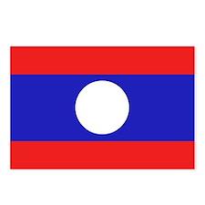 Cute Laos flag Postcards (Package of 8)