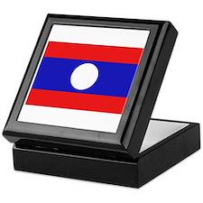 Cute Laos flag Keepsake Box