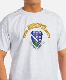 DUI - 1st Bn - 506th Infantry Regt with Text T-Shirt