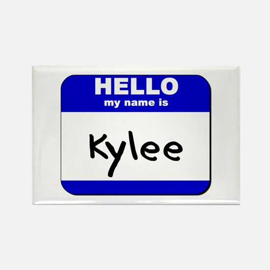 hello my name is kylee Rectangle Magnet