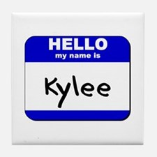 hello my name is kylee  Tile Coaster