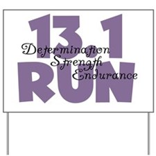 13.1 Run Purple Yard Sign