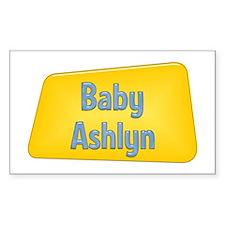 Baby Ashlyn Rectangle Decal