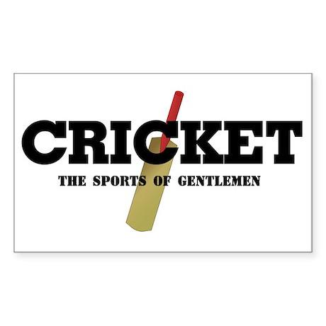 Cricket Rectangle Sticker