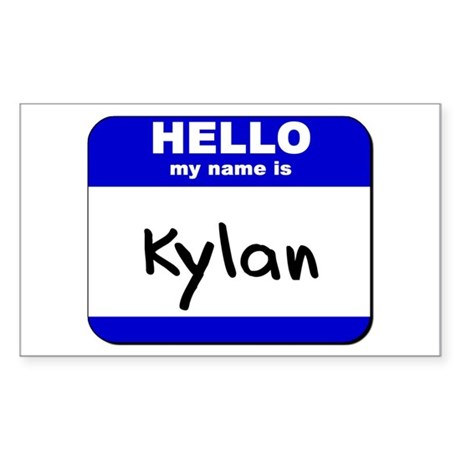 hello my name is kylan Rectangle Sticker