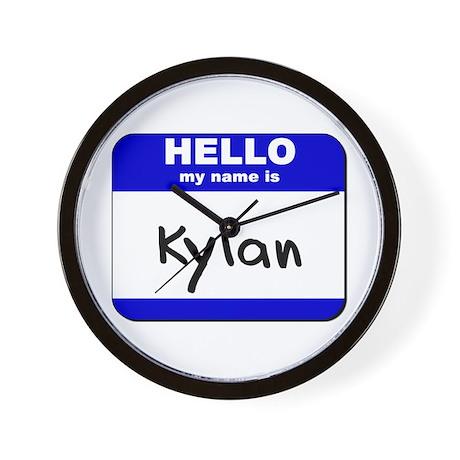 hello my name is kylan Wall Clock