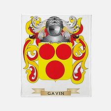 Gavin Coat of Arms (Family Crest) Throw Blanket