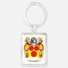 Gavin Coat of Arms (Family Crest Portrait Keychain