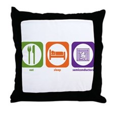 Eat Sleep Semiconductors Throw Pillow