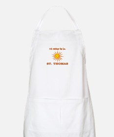 I'd Rather Be In St. Thomas, BBQ Apron