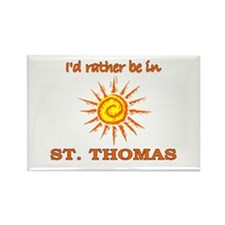 I'd Rather Be In St. Thomas, Rectangle Magnet (10