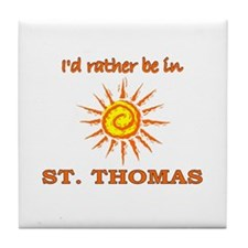 I'd Rather Be In St. Thomas, Tile Coaster