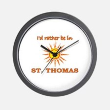 I'd Rather Be In St. Thomas, Wall Clock