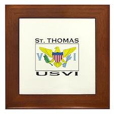 St. Thomas, USVI Flag Framed Tile