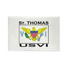 St. Thomas, USVI Flag Rectangle Magnet