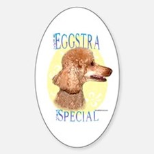 Eggstra Special Poodle Oval Decal